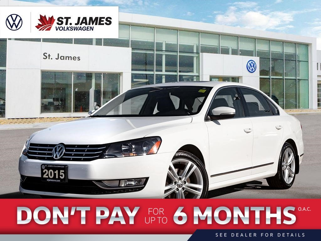 Pre-Owned 2015 Volkswagen Passat Highline 1.8TSI, Clean CarFax, One Owner, Power Sunroof, Back-Up Camera