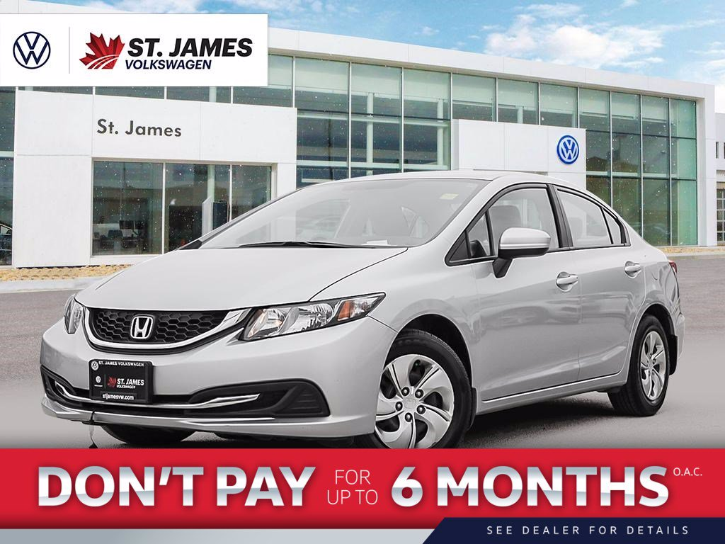 Pre-Owned 2014 Honda Civic Sedan LX One Owner, 15 Wheels, Heated Seats, Bluetooth