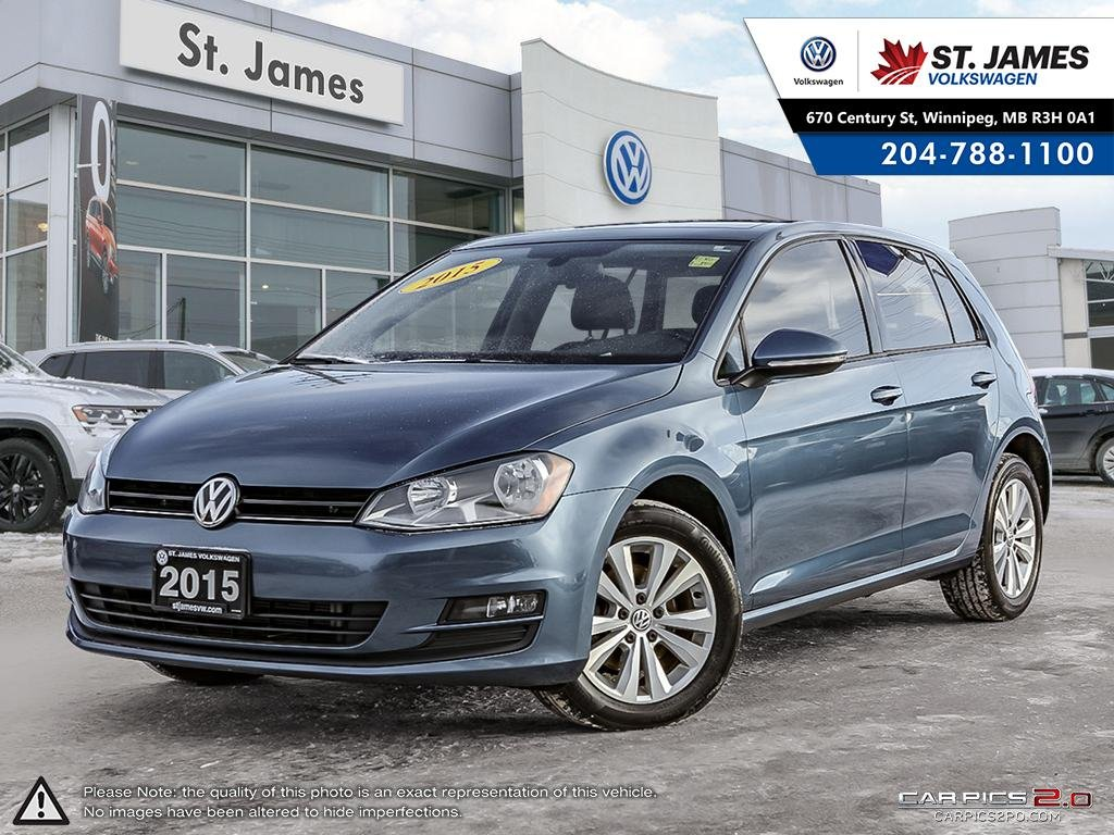 Certified Pre-Owned 2015 Volkswagen Golf Comfortline 1.8TSI, LEATHER, 16 ALLOY RIMS, PANORAMIC SUNROOF