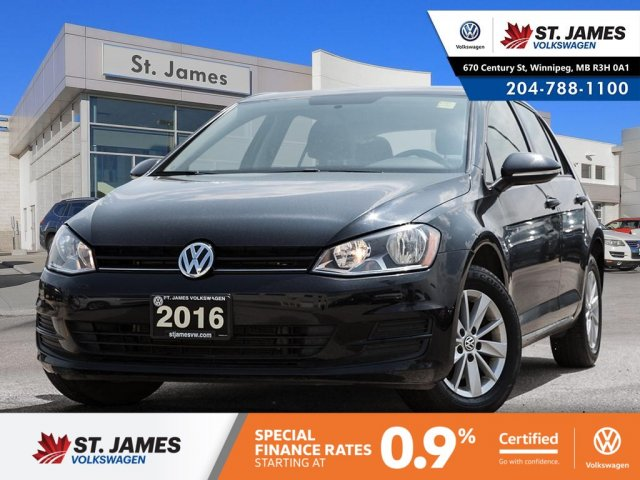 Certified Pre-Owned 2016 Volkswagen Golf Trendline 1.8TSI, BLUETOOTH, HEATED SEATS, 15 ALLOY RIMS