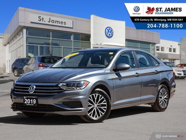 Pre-Owned 2019 Volkswagen Jetta Highline 1.4TSI, LEATHER, PANORAMIC SUNROOF, BLUETOOTH