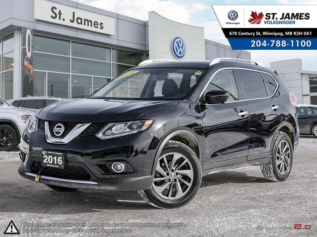 Pre-Owned 2016 Nissan Rogue SL, LEATHER, 360 DEGREE CAMERA, HEATE SEATS, POWER TAILGATE