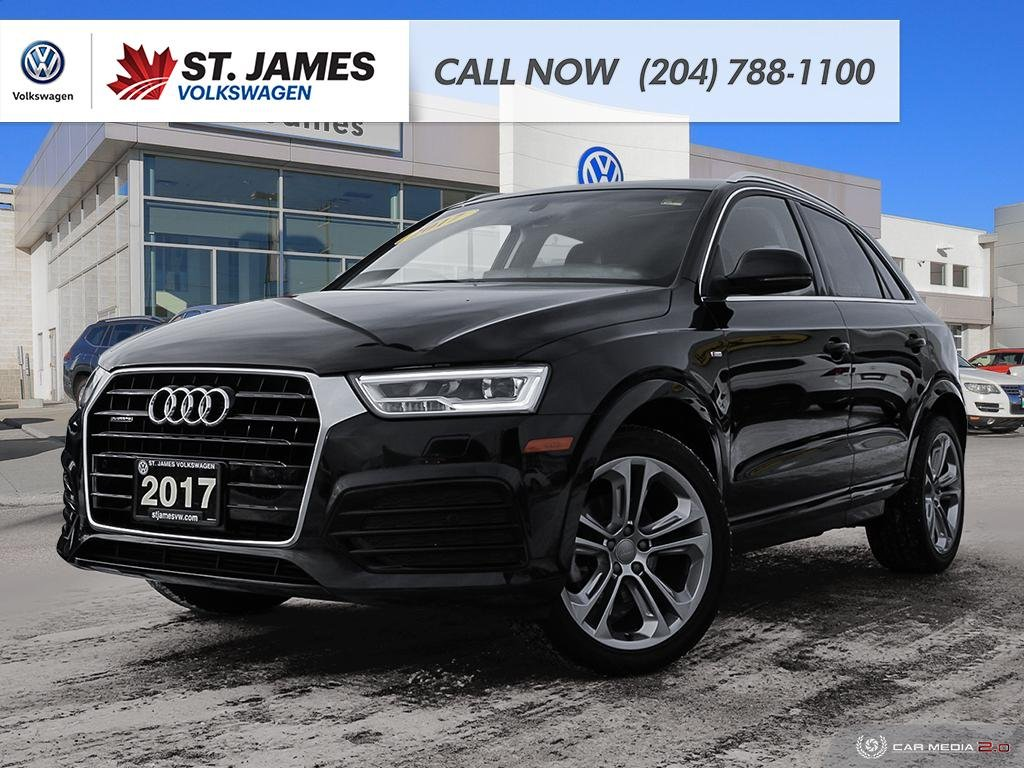 Pre-Owned 2017 Audi Q3 Technik 2.0TFSI QUATTRO, LEATHER, HEATED SEATS, PANORAMIC SUNROOF