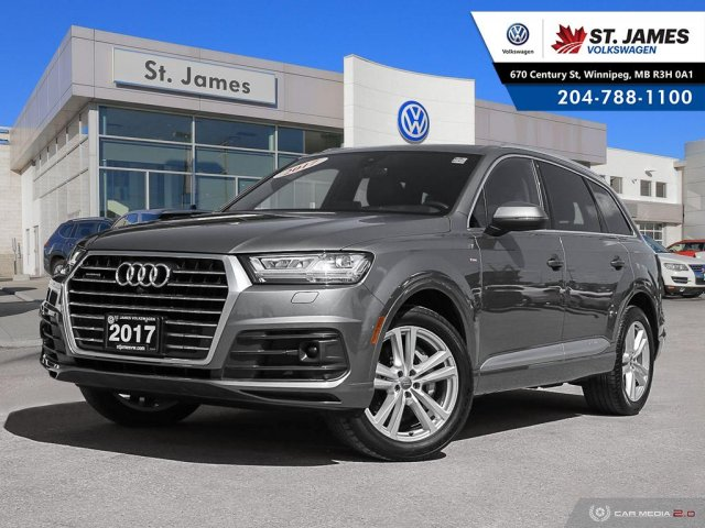 Pre-Owned 2017 Audi Q7 3.0T Technik PANORAMIC SUNROOF, NAVIGATION, HEATED STEERING WHEEL