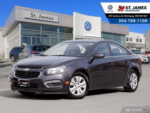 Pre-Owned 2015 Chevrolet Cruze 1LT FRESH SAFETY, BLUETOOTH, REAR VIEW MIRROR