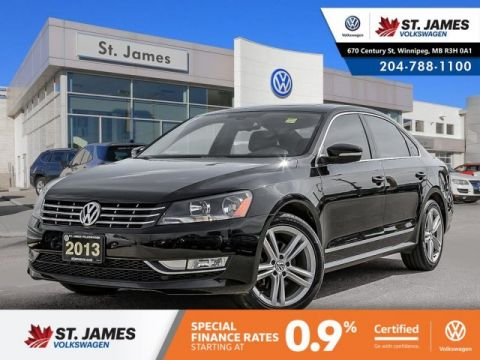 Certified Pre-Owned 2013 Volkswagen Passat Highline 2.0TDI DSG W/ NAVIGATION & SPORT PACKAGE