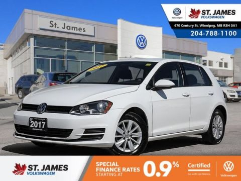 Certified Pre-Owned 2017 Volkswagen Golf Trendline 1.8TSI, BLUETOOTH, HEATED SEATS, 15 ALLOY RIMS