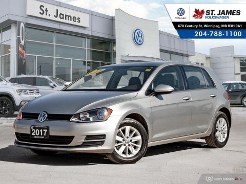 Certified Pre-Owned 2017 Volkswagen Golf Trendline 1.8TSI, HEATED SEATS, BLUETOOTH, REAR VIEW CAMERA