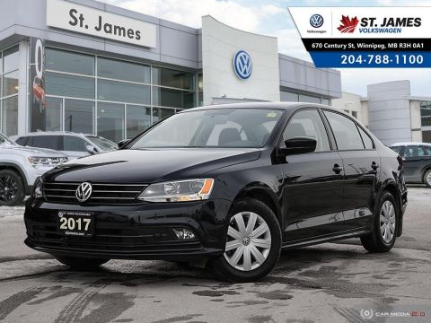 Pre-Owned 2017 Volkswagen Jetta Sedan Trendline+ 1.4TSI, HEATED SEATS, APP CONNECT, REAR VIEW CAMERA