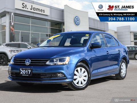 Certified Pre-Owned 2017 Volkswagen Jetta Sedan Trendline+ 1.4TSI, HEATED SEATS, APP CONNECT, REAR VIEW CAMERA