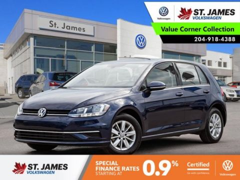Certified Pre-Owned 2018 Volkswagen Golf Trendline 1.8TSI, BLUETOOTH, HEATED SEATS, 15 ALLOY RIMS