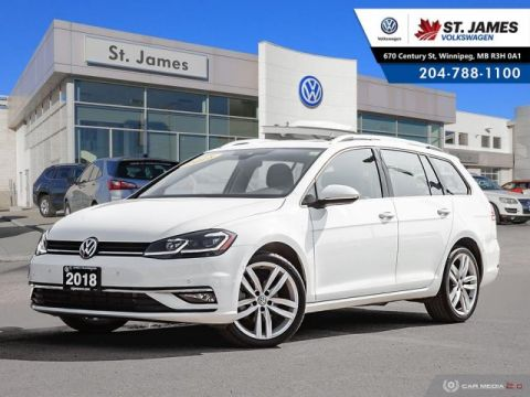 Pre-Owned 2018 Volkswagen Golf SportWagen Highline 4Motion ***DEMO***