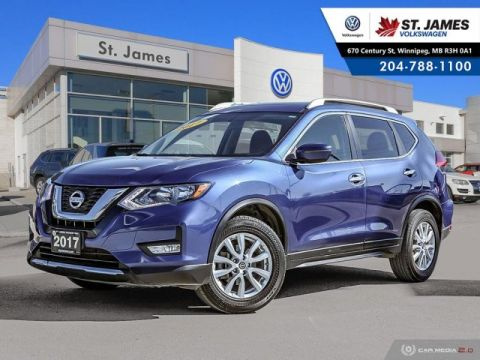 Pre-Owned 2017 Nissan Rogue SV AWD, PANORAMIC SUNROOF, HEATED SEATS, BLUETOOTH