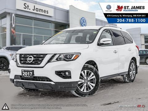 Pre-Owned 2017 Nissan Pathfinder SV 4WD HEATED STEERING WHEEL, HEATED SEATS, REAR VIEW CAMERA.