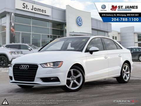 Pre-Owned 2016 Audi A3 2.0T Quattro Komfort BI-XENON HEADLIGHTS, LEATEHR, HEATED SEATS