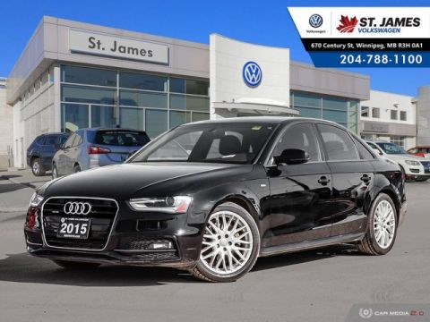 Pre-Owned 2015 Audi A4 Sport Plus Quattro 18 S-LINE RIMS, LEATHER, HEATED SEATS
