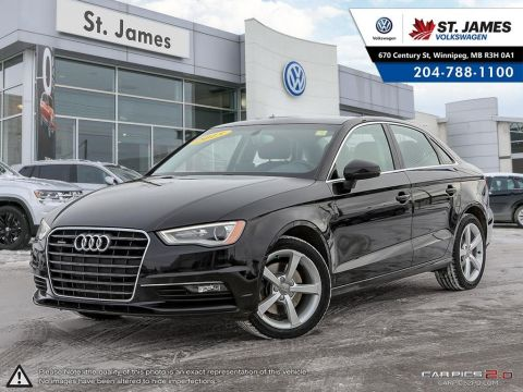 Pre-Owned 2015 Audi A3 2.0T Quattro Komfort BI-XENON HEADLIGHTS, LEATEHR, HEATED SEATS