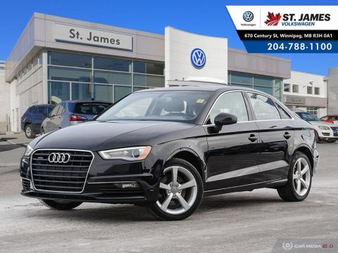 Pre-Owned 2015 Audi A3 2.0T Quattro Komfort HEATED LEATHER SEATS, DUAL ZONE CLIMATE CONTROL