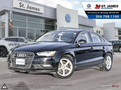 Pre-Owned 2015 Audi A3 2.0T Quattro Komfort LEATHER, HEATED SEATS, DUAL ZONE CLIMATE CONTROL