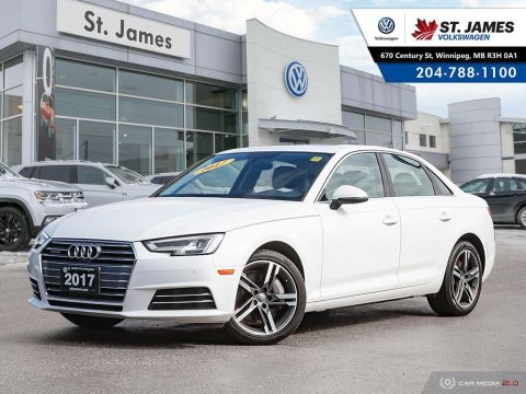 Pre-Owned 2017 Audi A4 Technik 2.0T QUATTRO, DIGITAL COCKPIT, NAVIGATION, 360 VIEW CAMERA