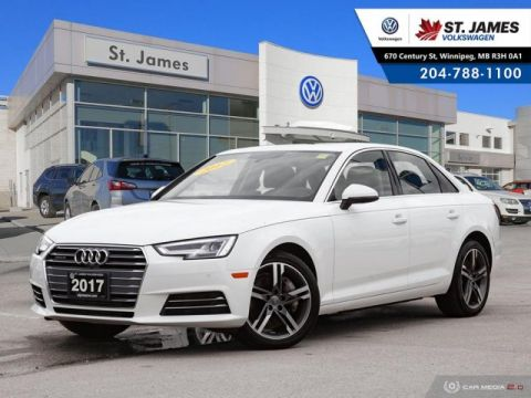 Pre-Owned 2017 Audi A4 Technik 2.0TFSI QUATTRO, LEATHER, 360 VIEW CAMERA, HEATED STEERING WHEEL