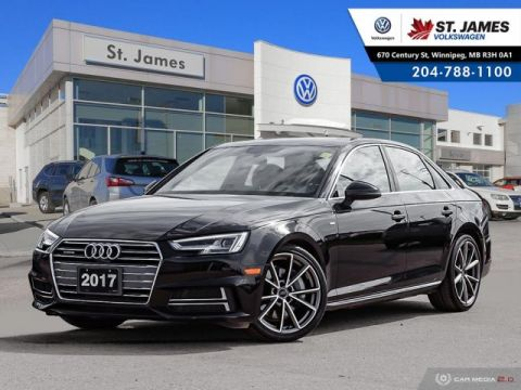 Pre-Owned 2017 Audi A4 Technik 2.0TFSI QUATTRO, NAVIGATION, PANORAMIC SUNROOF, HEATED STEERING WHEEL