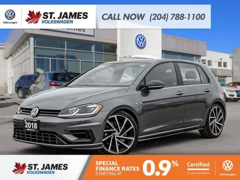 Certified Pre-Owned 2018 Volkswagen Golf R 2.0TSI 4MOTION, 292 HP, 268 TORQUE,